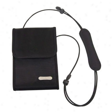 Neck Wallet -  Black Nylon