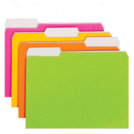 Neon Colored Folder 12 Pk In proportion to Smead - Assorted Neon