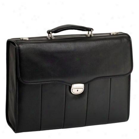 North Park Leather Laptop Brief By Mcklein - Black