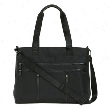 Nylon Laptop Tote In proportion to Bjx - Black