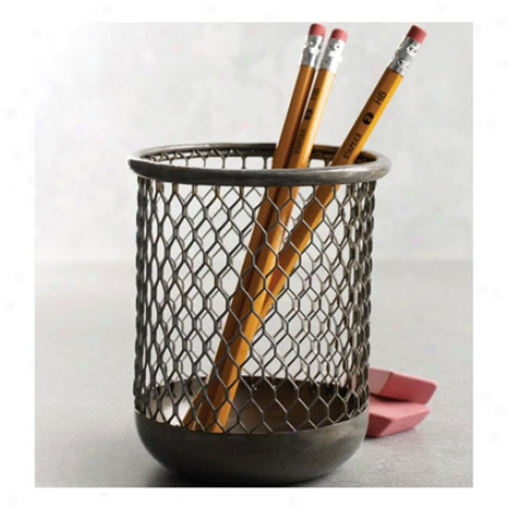 Omaha Pencil Cup Near to Desjgn Ideas - Silver