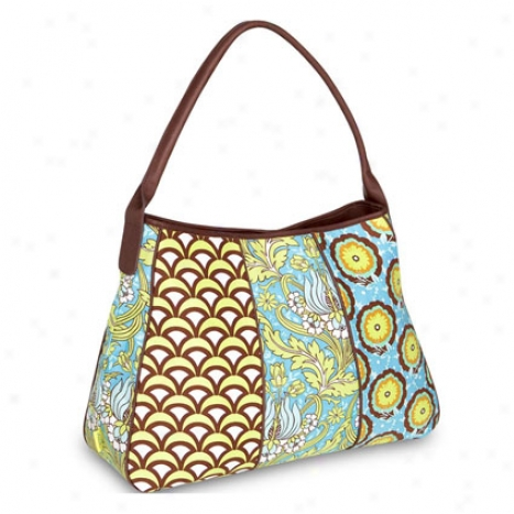Opal Fashion Bag By Amy Butler - Temple Tulips Turquoise