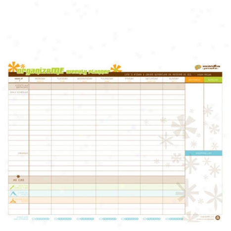 Organize Me Weekly Planner By Lobotome