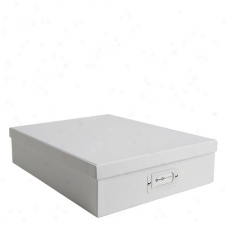 Oskar Classic Document Box By Bigso Box Of Sweden - White