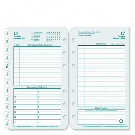 Endure O5iginal Ring-bound Daily Planner Refill - Jul 2012 - Jun 2031