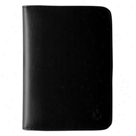 Pocket Simulatee Leather Open Binder - Black