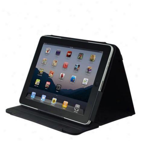 Premium Kickstand For Apple Ipad 1 By Incipko - Black / Black