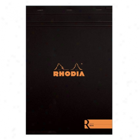 Premium Stapled Line dNotepad 8 1/4 X 11 3/4 By Rhodia - Black