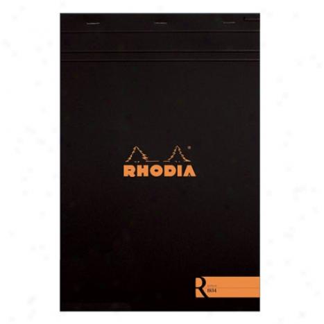 Premium Stapled Line dNotepad 8 1/4 X 11 3/4 By Rhodia - Black