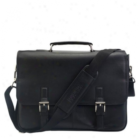 Reaction Kenneth Cole A Brief History Leather Flapover Laptop Bag