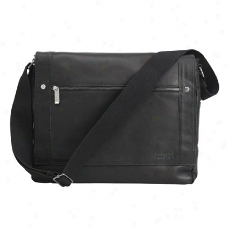 Reaction Kenneth Cole Busi-mess Essentials Leather Messenger Bag - Black