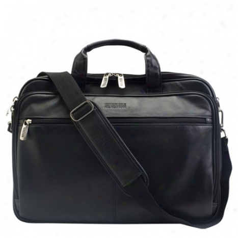 Reciprocal action Kenneth Cole I Rest My Case Leather Zip-top Laptop Sack