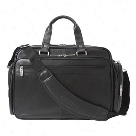 Reaction Kenneth Cole Long Story Port Leather Expandable Laptop Bag