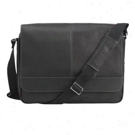 Reaction Kenneth Cole Risky Calling Leather Messenger Bag - Black