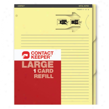 Refill 1 Card By Contact Keeper - Large