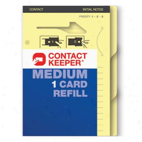 Refill 1 Card Along Contact Keeper - Medium