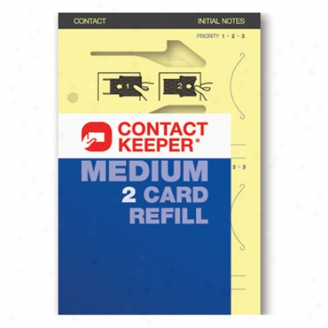 Refill 2 Card By Contact Keeper - Medium