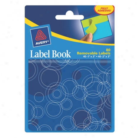 Removable Labbel Book By Avery - Blue Circles
