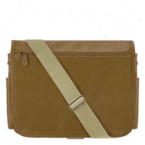 Retro Distressed Messenger Bag - Brown