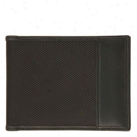 Rfid Blocking Billfold - Black Ballistic Nylon