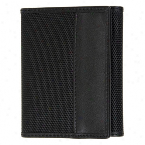 Rfid Blocking Tri-fold Wallet -  Black Ballistif Nylon