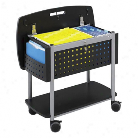 Scootã¢â�žâ¢ Mobile File With Work-surface By Safco - Black