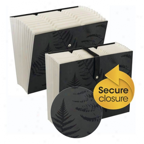 Secure Expanding File By Smead - Murky Fern Print W/ White Interior