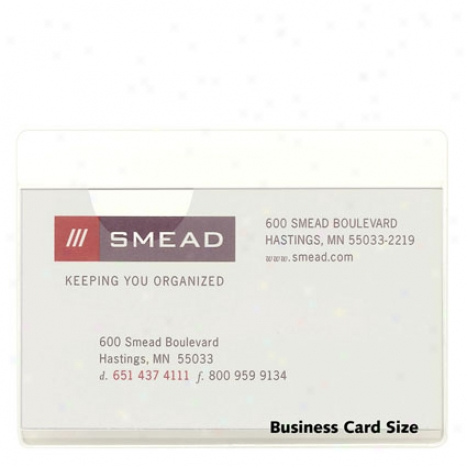 Self-adhesive Polg Pockets 5 Pk Business Card Size By Smead - Clear