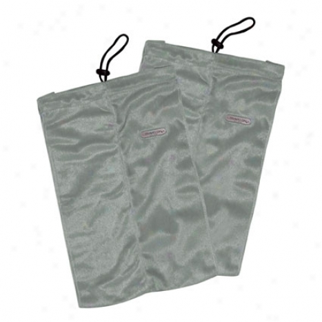 Set Of 2 Shoe Bags - Gray Fleece