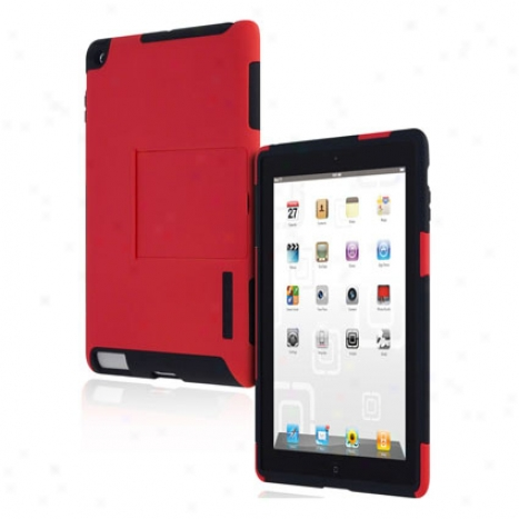 Silicrylic For Apple Ipad 2g By Incipio - Red/black
