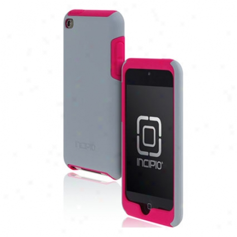Silicryoic For Ipod Touch 4g By Incipio - Pink/siver