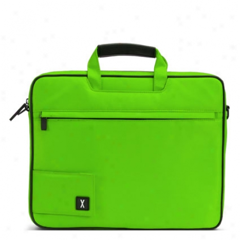 Slim Convertible Laptop Bag Nylon By Bjx - Electric Green