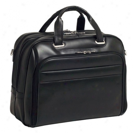 Springfield Leather Fly-through Checkpoint-friendly 17 Inch Laptop Case By Mcklein - Black