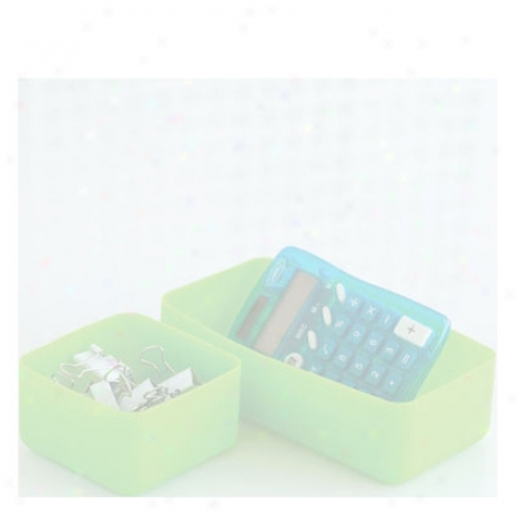 Squish Drawer Stores Set Of 2 By Desgn Ideas - Green
