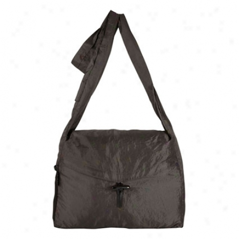 Stow-away Messenger Bag -  Black Nylon