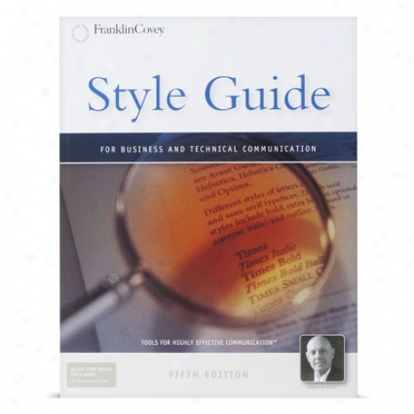 Style Guide For Business And Technical Communication By Franklincovey