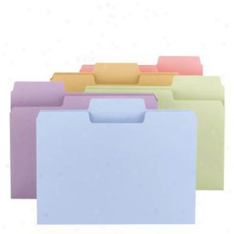 Supertab Color Folder, 1/3-cut, Letter Size, 24 Pack
