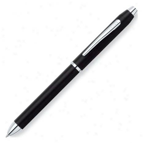 Tech Iii Multifunction Pen Personalized By Cross - Satjn Black