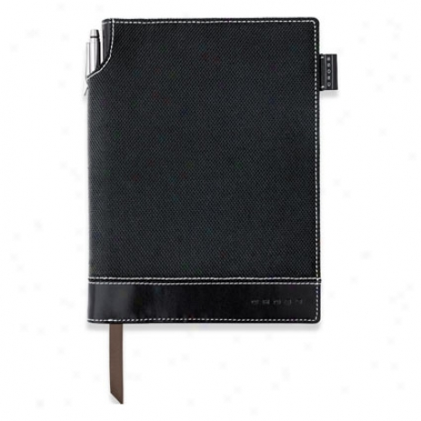 Textured Journal W/ Pen Meddium By Cross - Black