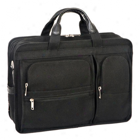 The Clinton 17 Inch Detachable-wheeled Poly Case By Mcklein - Black