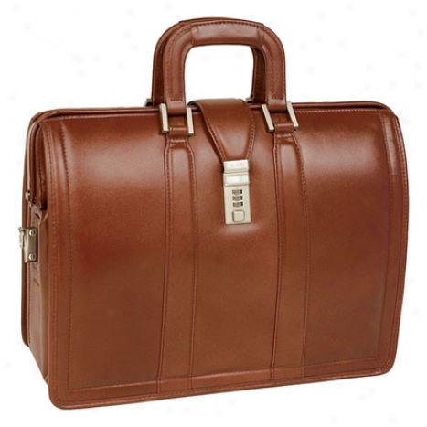 The Morgan Leather 17 Inch Litigator Laptop Brief By Mcklein - Broan