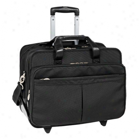 The Roosevelt 17 Inch Detachable-wheeledd Nylon Case By Mcklein - Black