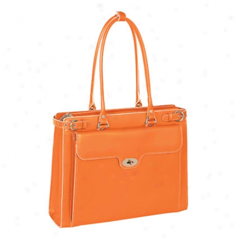 The Winnetka Ladi3s Leather Briefcase Bh Mcklein  - Orange