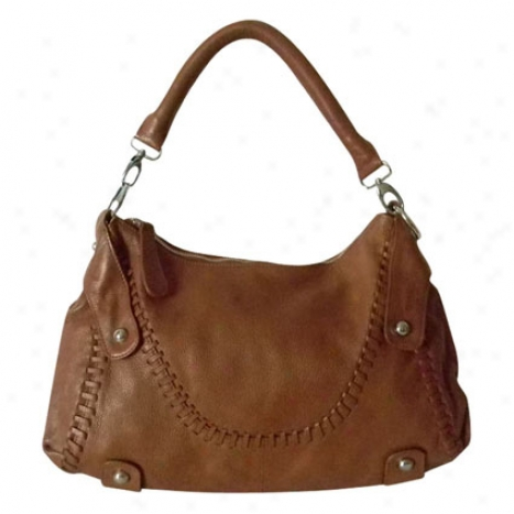 Timeless Beauyt Leather Hobo Bag By Donna Bella Designs - Camel