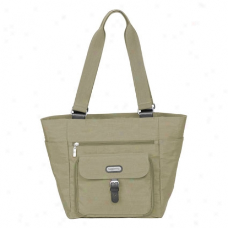 Town Tote By Baggallini - Khaki/caspian Blue
