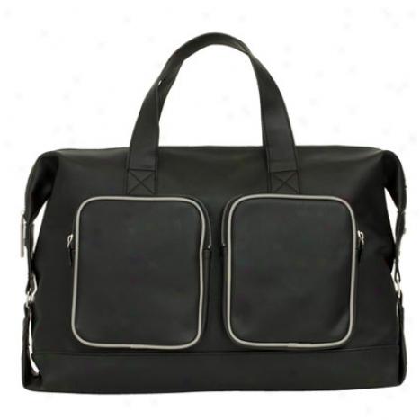 Travel Satchel Vegan Leather By Bjx - Black