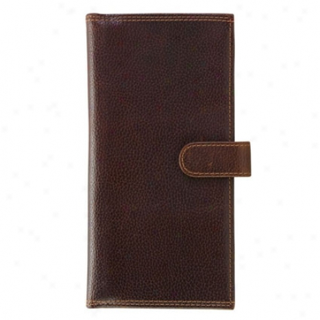 Travel Wallet With Snap Closure - Brown