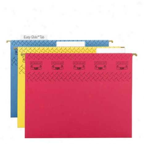 Tuff Hanging Folder With Easy Slide Tab, Letter Size, Assorted Colors  15