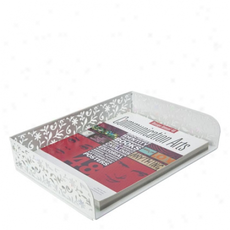 Vinea Letter Tray By Design Ideas - White