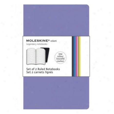 Volant Ruled Large By Moleskine - Purple